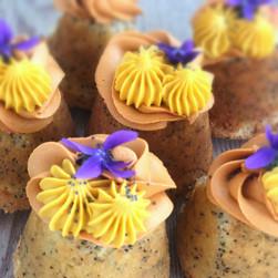 Orange poppy seed cakes.
