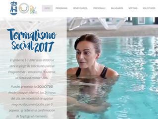 Nueva web del Programa de Termalismo Social 2017.