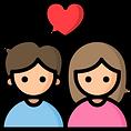 icono-color-pareja-corazon-eamorados