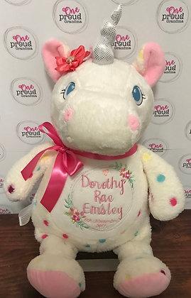 Rainbow Candy Spotty Unicorn - Signature Series  Cubbie