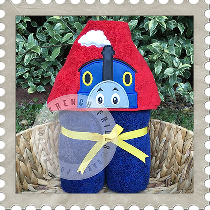 Talking Train Handmade Hooded Towel