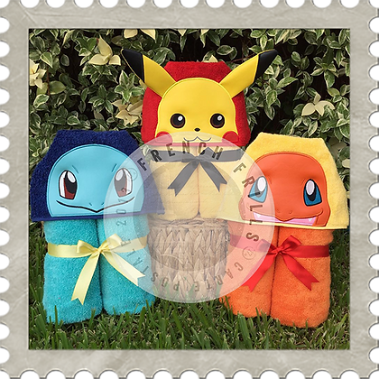 Pokemon Characters Handmade Hooded Towel