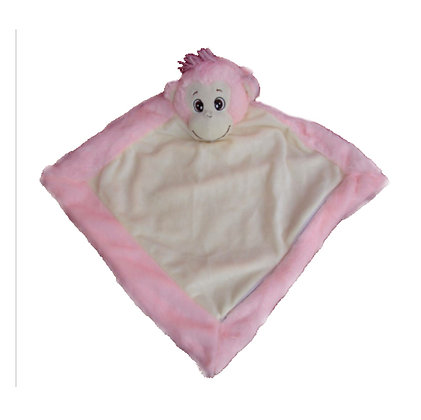 Kiki Pink Monkey Blankie by Remembears