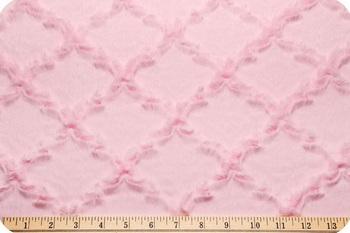 Luxe Cuddle Minky Baby Pink lattice