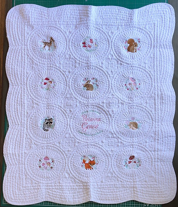 Custom Theme Embroidered Heirloom Quilt
