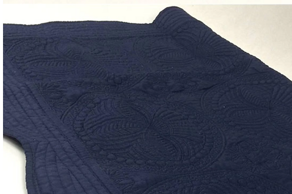 Personalised Heirloom Cot Quilt - Navy