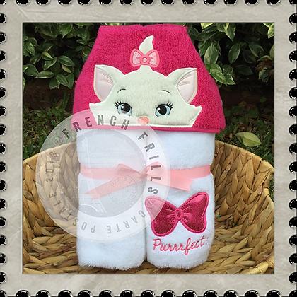 Pretty Kitty Handmade Hooded Towel