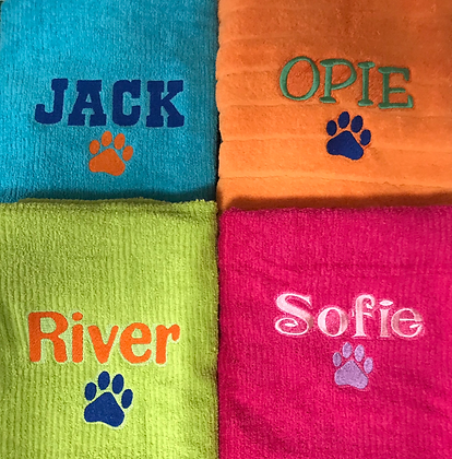 Personalised Pet Towels