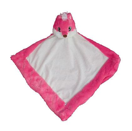 'Foxee' Pink Fox Blankie by Remembears