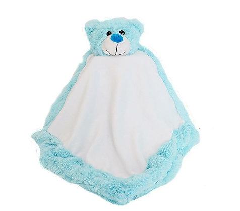 Classic Bear Blankie in Blue by Snugabudz