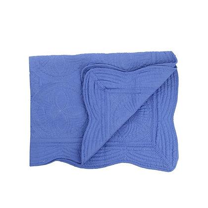 Personalised Heirloom Cot Quilt - Periwinkle Blue