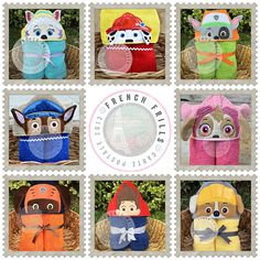 Paw Patrol  Handmade Hooded Towel