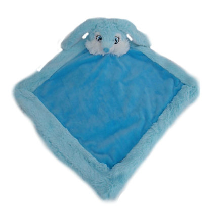 Bo Blue Bunny Blankie by Remembears