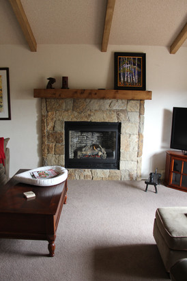 Remodeled fireplace