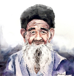 Portrait of a Uyghur Grandfather