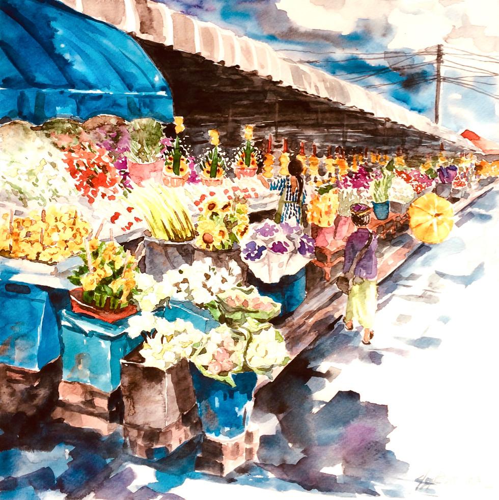 Warorot Flower Market