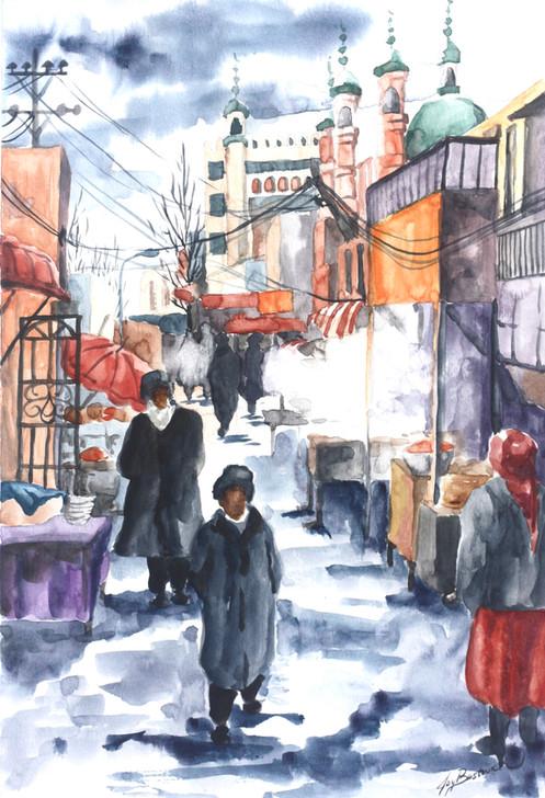 Winter Day in Urumqi