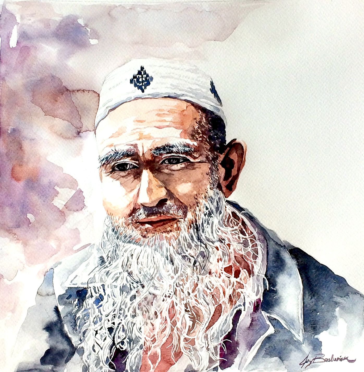 Portrait of a Uyghur Man