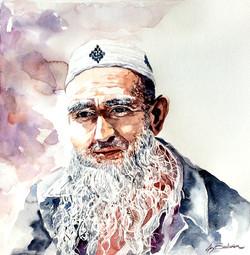 Portrait of a Uyghur Man