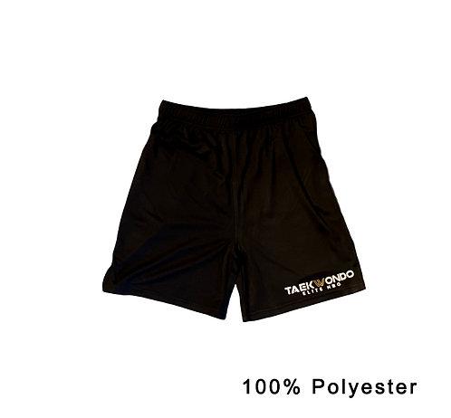 Training Shorts, schwarz + logo (100 % Polyester)