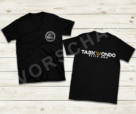 T-Shirt schwarz schwarz (Baumwolle) m. gold/weiß logo