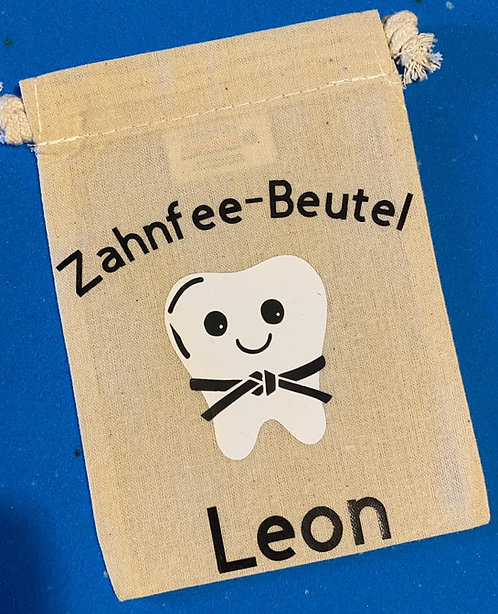 Tae-Kwon-Do Zahnfeebeutel mit Namen des Kindes