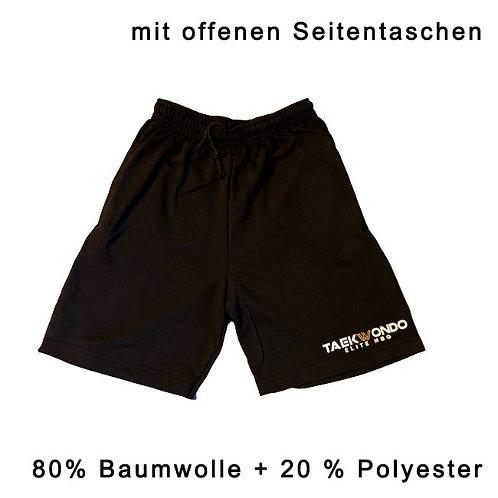 Training Shorts, schwarz,  (mit Seitentaschen)+ logo