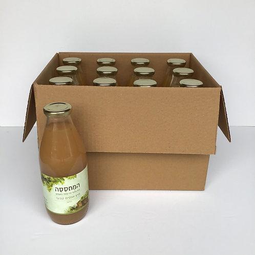 ארגז בקבוקי מיץ אגסים טבעי 1 ליטר 12 יחידות