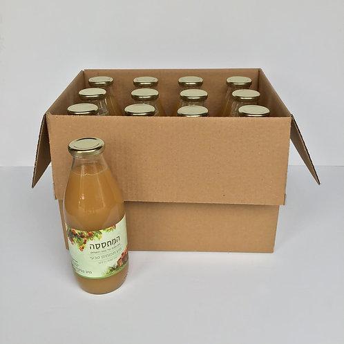 ארגז בקבוקי מיץ תפוחים טבעי-גרני סמית' 12 יחידות