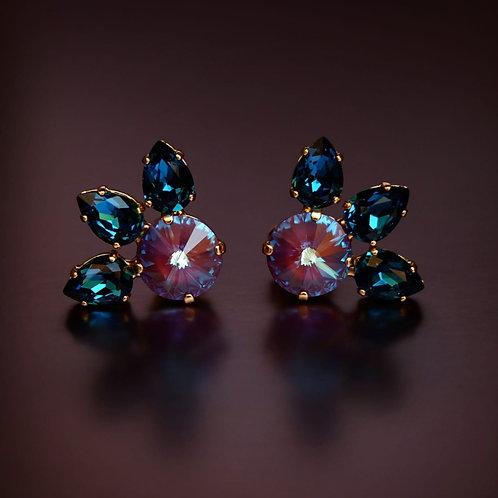 Orecchini Petali blu