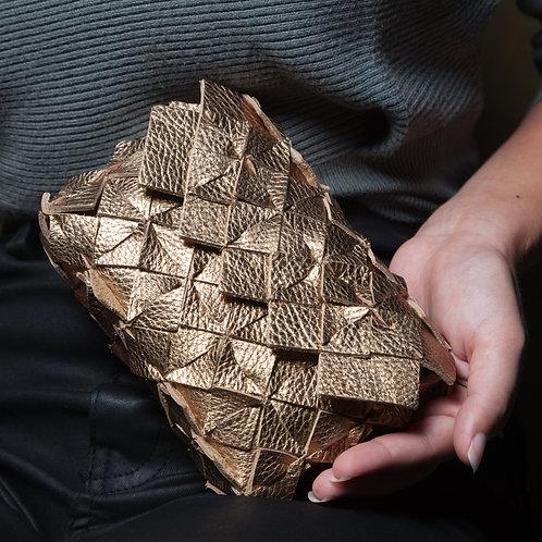 Clutch Origami Oro