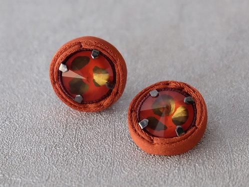 Orecchini Cristallo (Arancio)