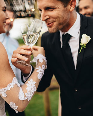 wedding and champange