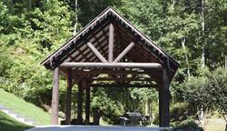 Log Pole Barn at River Park