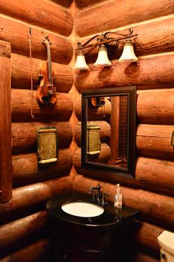 Restrooms in Old Log Chapel