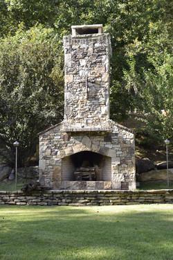 Rock Fireplace at River Park