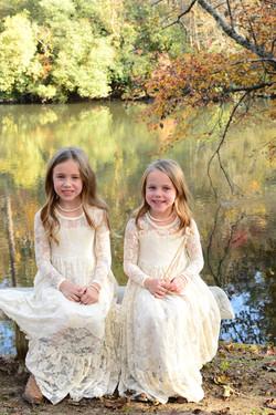 Beautiful flower girls at River Park