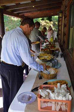 Reception by the Old Log Chapel