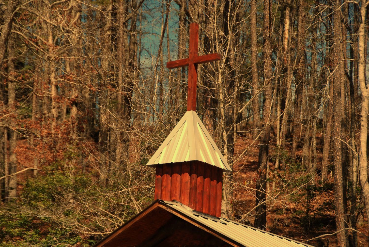 Old Log Chapel at River Park