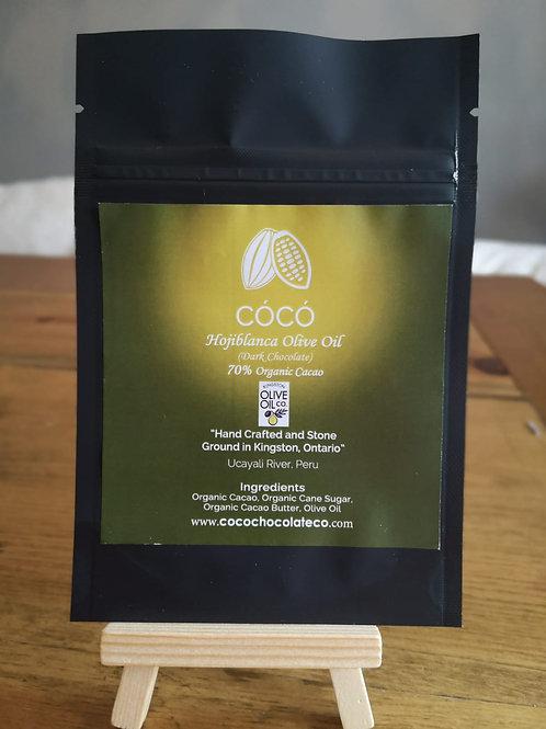 70% dark with Hojiblanca olive oil