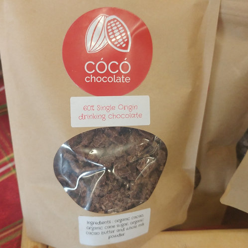Single Origin drinking chocolate. Acad of choc silver medalist 2018