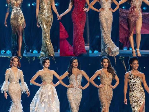 Vestido de gala das 10 finalistas do Miss Universo 2019