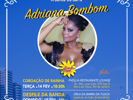 ADRIANA SERÁ RAINHA NA BARRA
