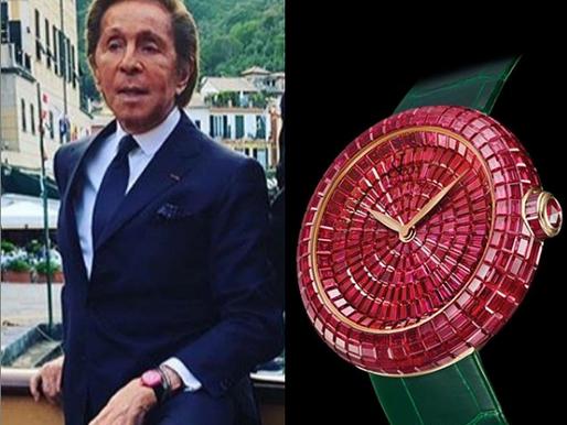 Mr. Valentino e seu relógio de luxo