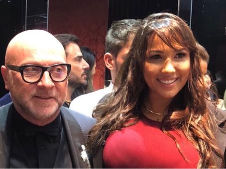 Carol Guimarães com Domenico Dolce em São Paulo.