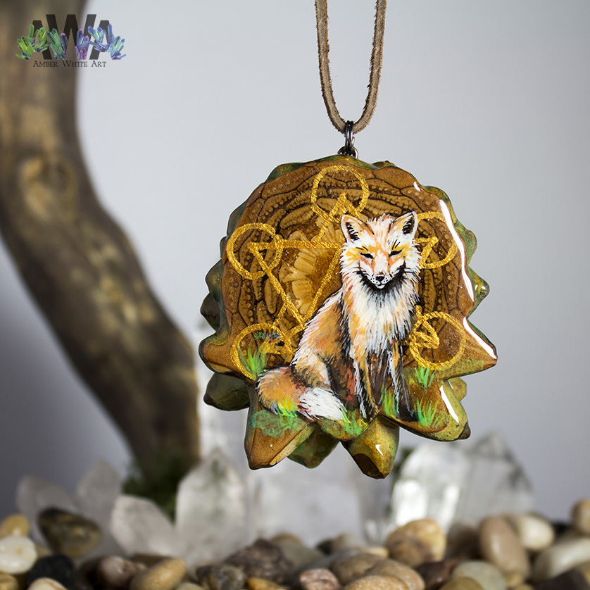 Cosmic Fox Pendant