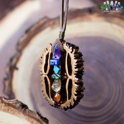 Chakra Black Walnut AwA Pendant