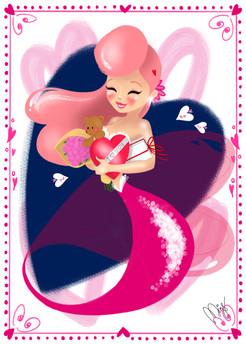 Valentine's Day Mermaid
