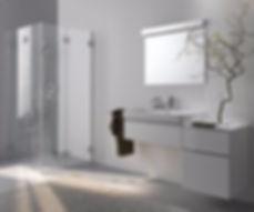 Neoline France SAS Charnieres et pièce de fixation du verre pour salle de bains et douches
