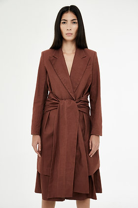 KNOTTED TRENCH COAT